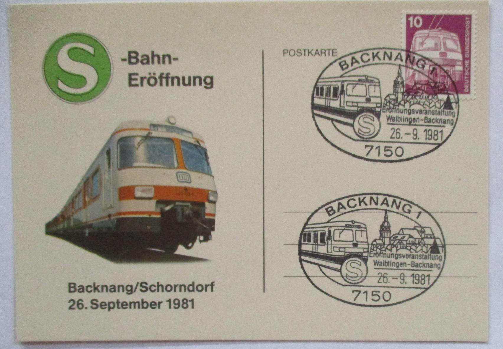 Chemin De Fer, S-bahn Backnang-schorndorf 1981 (42696)-ndorf 1981 (42696) Fr-fr Afficher Le Titre D'origine